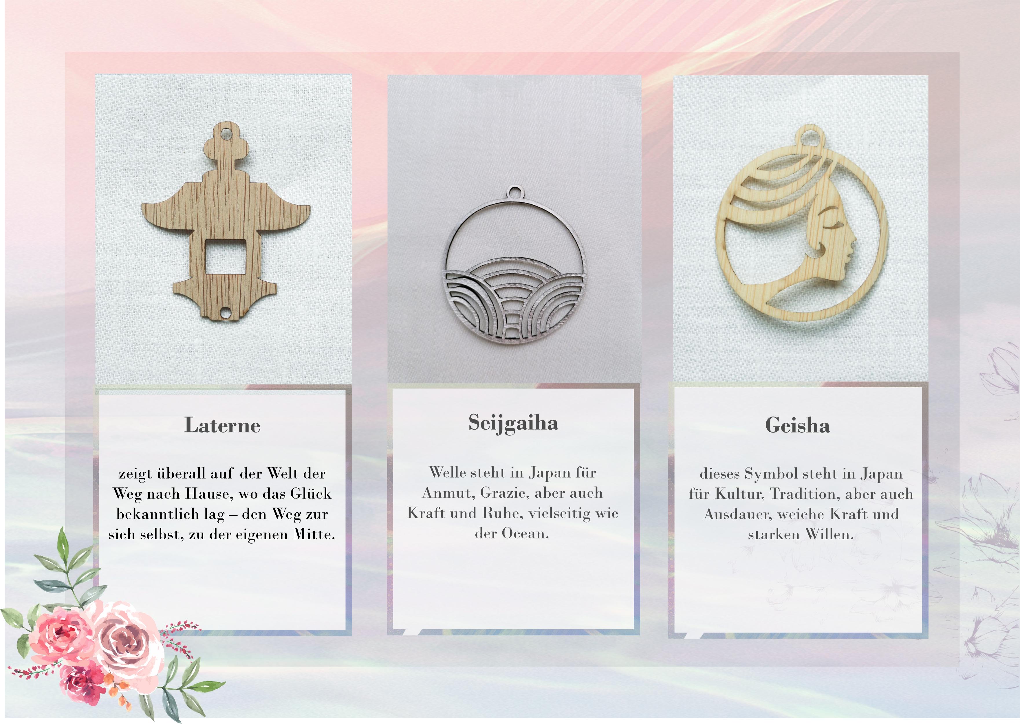 Ohrringe 'Laterne' aus Bambus und Leder